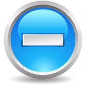 vector blue button exclude