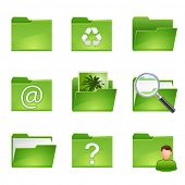 stock photo of reprocess  - vector green icons set3 - JPG