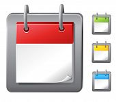 empty calendar icons set (vector)