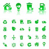 vector green-icons set