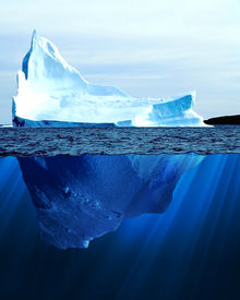 pic of iceberg  - A large iceberg in the cold blue cold water - JPG