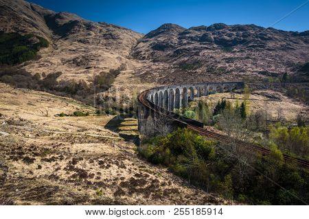 The Glenfinnan railway viaduct in