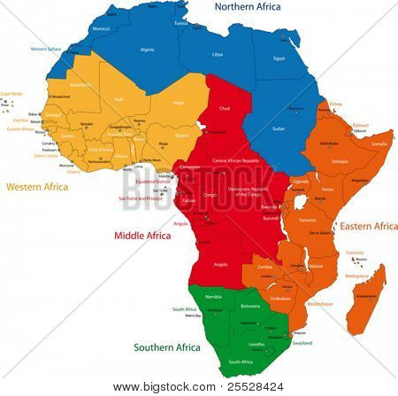 Africa Map Countries and Capitals