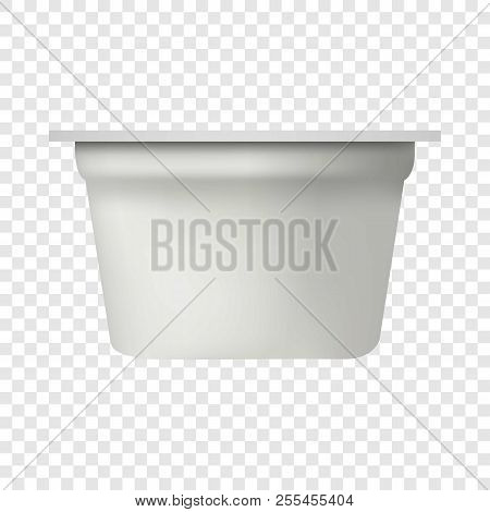poster of Yogurt Packing Mockup. Realistic Illustration Of Yogurt Packing Mockup For On Transparent Background