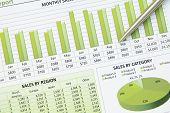 Green Business Financial Chart Graph