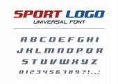 Sport Logo Universal Italic Font. Fast And Strong Futuristic, Athletic, Dynamic Alphabet. Letters, N poster