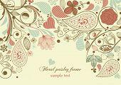 Floral frame, paisley motif