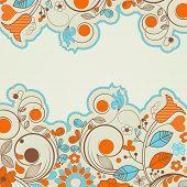 Colorful summer floral frame