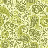 Floral paisley seamless background