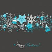 Christmas card on grey
