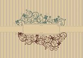 Retro swirls and butterflies cover with text area