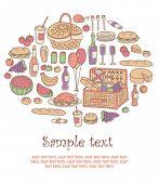 colorful picnic invitation card