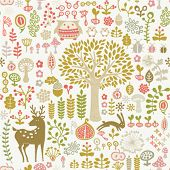 seamless autumn forest pattern