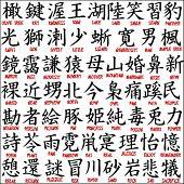 Kanji japonês - símbolos chineses 7
