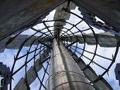 Dentro de uma torre