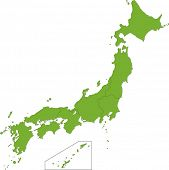 Map of the provinces of Japan