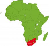 Location of South Africa on the Africa continent