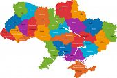 stock photo of cartographer  - Administrative divisions of Ukraine - JPG
