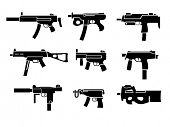 Weapon collection, submachine gun pictogram