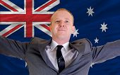 Happy Businessman Because Of Profitable Investment In Australia