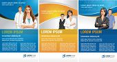Templates for advertising brochure / Flyers with business people