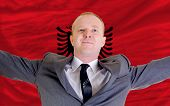 Happy Businessman Because Of Profitable Investment In Albania
