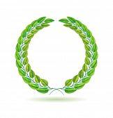 Guirnalda de laurel verde del vector. Representación detallada.