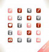 Vector conjunto de iconos hermosos. Parte 4 - medicina
