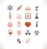 Conjunto de hermosa web iconos vol.7 medicina