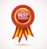 stock photo of award-winning  - Vector best choice award - JPG