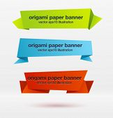 pic of polygons  - Vector set of origami paper banners - JPG