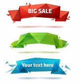 Set of trendy vector crystal banners