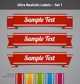 Realistic vector fabric labels