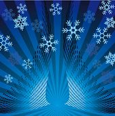 Christmas card. Vector Winter Background