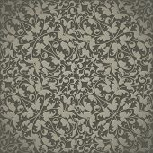 Seamless vector wallpaper or background,floral texture