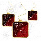 Christmas decoration quadro ball background