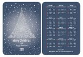 Vector. Pocket calendar 2011