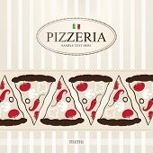 Cover design the menu for pizzeria
