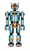 Retro robot. Vector illustration.