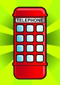 Telephone booth. Vector illustration.