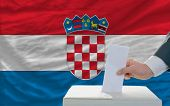 Man Voting On Elections In Croatia