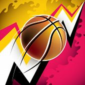 Illustrated modern basketball background with abstraction. Vector illustration.