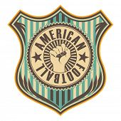 picture of rebel  - Vintage american football crest - JPG