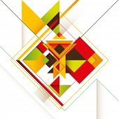 Creative composition with colorful abstract shapes. Vector illustration.