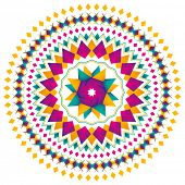 Abstract modern arabesque in color. Vector illustration.