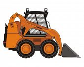 stock photo of skid-steer  - Vector illustration of compact excavator - JPG