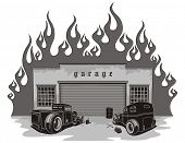 Rat rods garage.