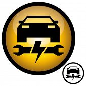 Automotive electronics repair icon. Vector illustration.