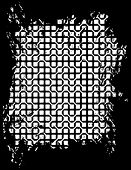 Monochrome abstract technology theme vector background.