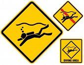 Scuba diving sign.